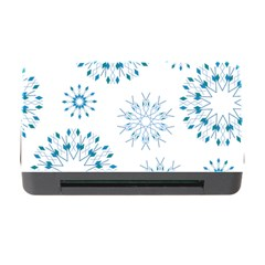 Blue Winter Snowflakes Star Triangle Memory Card Reader With Cf by Mariart