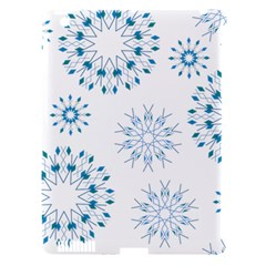 Blue Winter Snowflakes Star Triangle Apple Ipad 3/4 Hardshell Case (compatible With Smart Cover) by Mariart