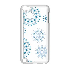 Blue Winter Snowflakes Star Triangle Apple Ipod Touch 5 Case (white) by Mariart