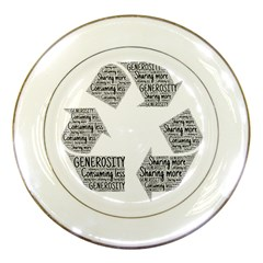 Recycling Generosity Consumption Porcelain Plates by Nexatart