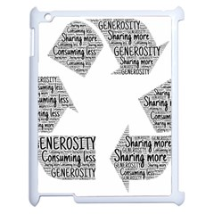 Recycling Generosity Consumption Apple Ipad 2 Case (white) by Nexatart