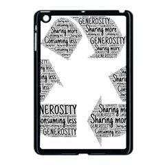 Recycling Generosity Consumption Apple Ipad Mini Case (black) by Nexatart