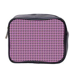 Pattern Grid Background Mini Toiletries Bag 2 Side by Nexatart