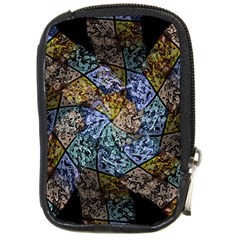 Multi Color Tile Twirl Octagon Compact Camera Cases by Nexatart