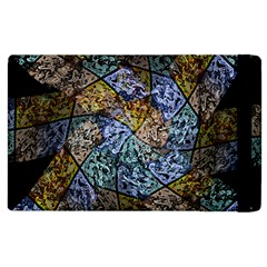 Multi Color Tile Twirl Octagon Apple Ipad 3/4 Flip Case by Nexatart