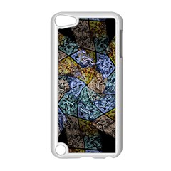 Multi Color Tile Twirl Octagon Apple Ipod Touch 5 Case (white) by Nexatart