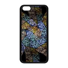 Multi Color Tile Twirl Octagon Apple Iphone 5c Seamless Case (black) by Nexatart