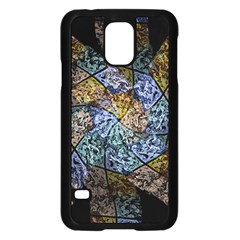 Multi Color Tile Twirl Octagon Samsung Galaxy S5 Case (black) by Nexatart