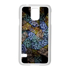 Multi Color Tile Twirl Octagon Samsung Galaxy S5 Case (white) by Nexatart