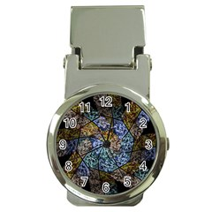 Multi Color Tile Twirl Octagon Money Clip Watches by Nexatart