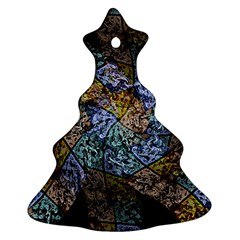 Multi Color Tile Twirl Octagon Ornament (christmas Tree)  by Nexatart