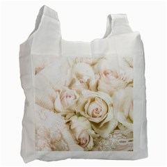 Pastel Roses Antique Vintage Recycle Bag (one Side) by Nexatart