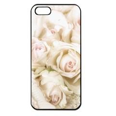 Pastel Roses Antique Vintage Apple Iphone 5 Seamless Case (black) by Nexatart