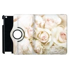 Pastel Roses Antique Vintage Apple Ipad 2 Flip 360 Case by Nexatart