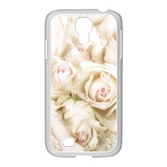Pastel Roses Antique Vintage Samsung Galaxy S4 I9500/ I9505 Case (white) by Nexatart