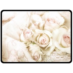 Pastel Roses Antique Vintage Double Sided Fleece Blanket (large)  by Nexatart