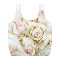 Pastel Roses Antique Vintage Full Print Recycle Bags (l)  by Nexatart