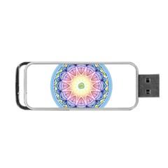 Mandala Universe Energy Om Portable Usb Flash (one Side) by Nexatart