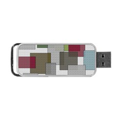 Decor Painting Design Texture Portable Usb Flash (two Sides) by Nexatart