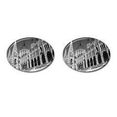 Architecture Parliament Landmark Cufflinks (oval) by Nexatart
