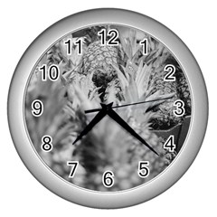Pineapple Market Fruit Food Fresh Wall Clocks (silver)  by Nexatart