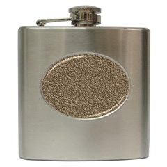 Leather Texture Brown Background Hip Flask (6 Oz) by Nexatart