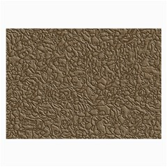 Leather Texture Brown Background Large Glasses Cloth by Nexatart