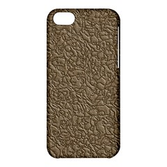 Leather Texture Brown Background Apple Iphone 5c Hardshell Case by Nexatart
