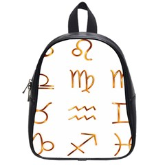 Signs Of The Zodiac Zodiac Aries School Bag (small) by Nexatart