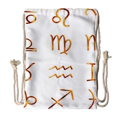 Signs Of The Zodiac Zodiac Aries Drawstring Bag (large) by Nexatart