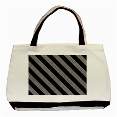 Stripes3 Black Marble & Gray Colored Pencil (r) Basic Tote Bag by trendistuff
