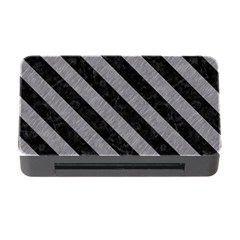 Stripes3 Black Marble & Gray Colored Pencil (r) Memory Card Reader With Cf by trendistuff