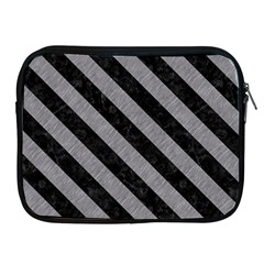Stripes3 Black Marble & Gray Colored Pencil (r) Apple Ipad 2/3/4 Zipper Cases by trendistuff