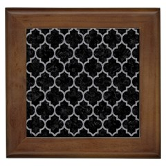 Tile1 Black Marble & Gray Colored Pencil Framed Tiles by trendistuff