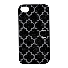 Tile1 Black Marble & Gray Colored Pencil Apple Iphone 4/4s Hardshell Case With Stand by trendistuff
