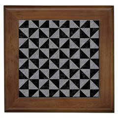 Triangle1 Black Marble & Gray Colored Pencil Framed Tiles by trendistuff
