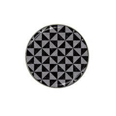 Triangle1 Black Marble & Gray Colored Pencil Hat Clip Ball Marker by trendistuff