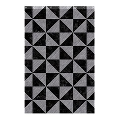 Triangle1 Black Marble & Gray Colored Pencil Shower Curtain 48  X 72  (small)  by trendistuff