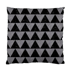 Triangle2 Black Marble & Gray Colored Pencil Standard Cushion Case (one Side) by trendistuff