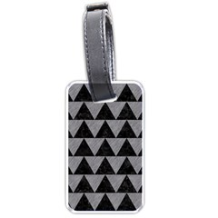 Triangle2 Black Marble & Gray Colored Pencil Luggage Tags (two Sides) by trendistuff