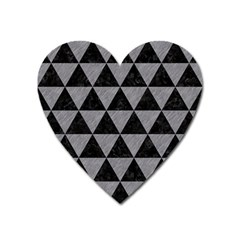 Triangle3 Black Marble & Gray Colored Pencil Heart Magnet by trendistuff