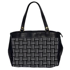Woven1 Black Marble & Gray Colored Pencil Office Handbags (2 Sides)  by trendistuff