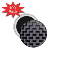 Woven1 Black Marble & Gray Colored Pencil (r) 1 75  Magnets (100 Pack)  by trendistuff