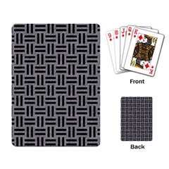 Woven1 Black Marble & Gray Colored Pencil (r) Playing Card by trendistuff
