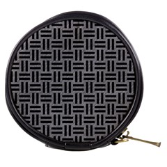Woven1 Black Marble & Gray Colored Pencil (r) Mini Makeup Bags by trendistuff