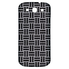 Woven1 Black Marble & Gray Colored Pencil (r) Samsung Galaxy S3 S Iii Classic Hardshell Back Case by trendistuff
