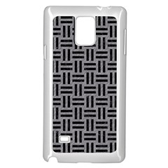 Woven1 Black Marble & Gray Colored Pencil (r) Samsung Galaxy Note 4 Case (white) by trendistuff