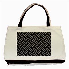 Woven2 Black Marble & Gray Colored Pencil Basic Tote Bag (two Sides) by trendistuff