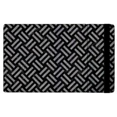 Woven2 Black Marble & Gray Colored Pencil Apple Ipad 3/4 Flip Case by trendistuff
