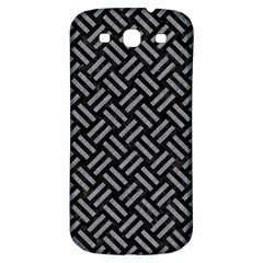 Woven2 Black Marble & Gray Colored Pencil Samsung Galaxy S3 S Iii Classic Hardshell Back Case by trendistuff